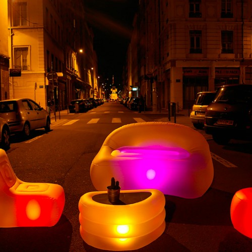 Meubles gonflables lumineux 4