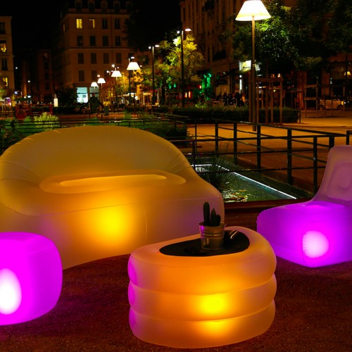 Meubles gonflables lumineux 8