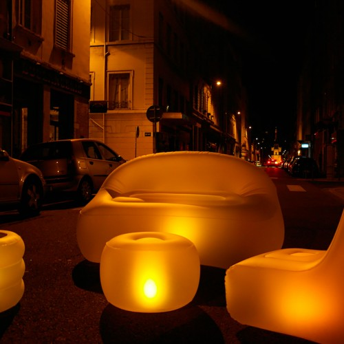 meubles gonflables lumineux 2