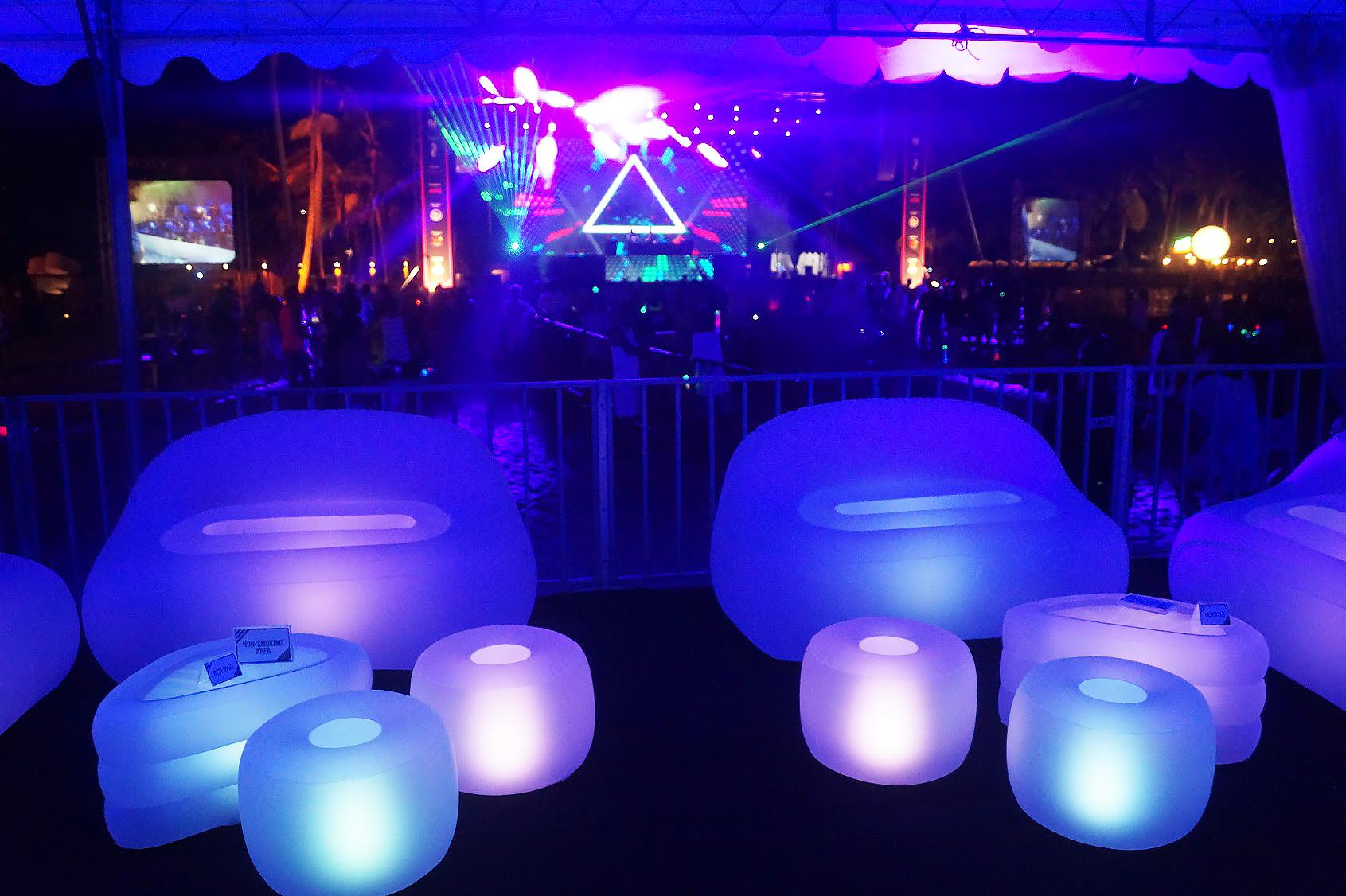 MOBILIER LUMINEUX, mobilier evenementiel, UNC Pro